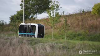 Download James Corden goes for a ride in OLLI - Autonomous Shuttle by Local Motors Video