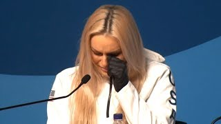 Download Lindsey Vonn Press Conference - Becomes Tearful Remembering Her Late Grandfather - PyeongChang 2018 Video