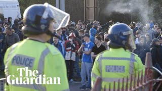 Download Behind the scenes on Birmingham derby day with football fans and police Video