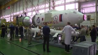 Download Общая сборка РКН «Союз-ФГ» с ТПК «Союз МС-08» Video