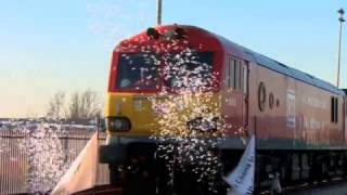 Download The train that's made the 7,400-mile journey from China to London Video