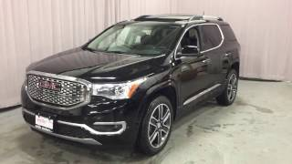 Download 2017 GMC Acadia AWD Denali Heated Steering Wheel Sunroof Black Oshawa ON Stock #170719 Video