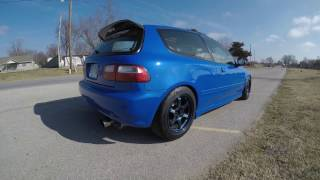 Download k20 eg test run k-tuned shifter and action clutch Video