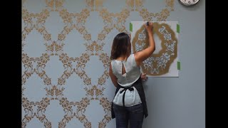 Download How to Stencil a Feature Wall in Only an Hour Video