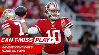 Download Jimmy Garoppolo Leads Game-Winning Drive vs. Tennessee!   Can't-Miss Play   NFL Wk 15 Highlights Video