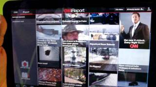 Download CNN for Android tablets app demo Video