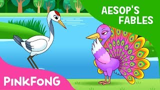 Download The Peacock and the Crane   Aesop's Fables   Pinkfong Story Time for Children Video