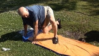 Download GRANDPA HITS THE SLIP 'N SLIDE! Video