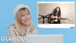 Download Grace VanderWaal Watches Fan Covers On YouTube | Glamour Video