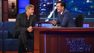 Download George Clooney Jokingly Admits He's Amal's Arm Candy! Video