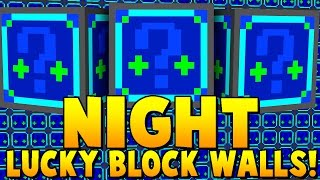 Download NIGHT LUCKY BLOCK MOD WALLS CHALLENGE | Minecraft - Lucky Block Mod Video