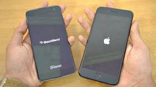 Download BlackBerry DTEK60 vs iPhone 7 Plus - Speed Test! (4K) Video