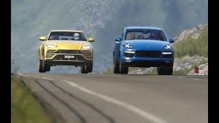 Download Lamborghini Urus '18 vs Cayenne Turbo S vs Macan Turbo vs Maserati Levanti S vs Grand Cherokee Video