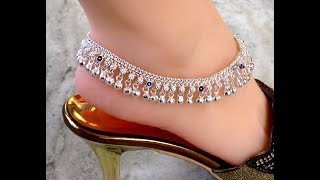 Download ANTIQUE SILVER ANKLET FOR WOMEN, ANKLET DESIGNS, SILVER JEWELLERY ONLINE Video