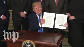 Download Trump signs measure hitting China with $50 billion in annual tariffs Video