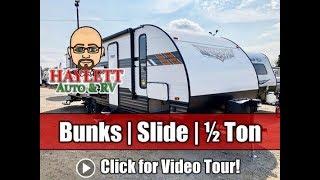 Download UPDATED 2020 Wildwood 263BHXL Bunkhouse Bath Entry Super Slide Half Ton Camp Kitchen Travel Trailer Video