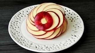 Download Art In Apple Flower   Fruit Carving Garnish   Apple Art   Party Garnishing Video