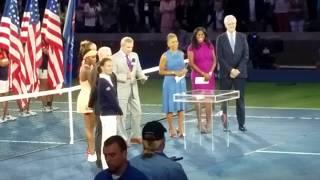 Download Sloane Stephens US Open Championship trophy presentation ceremony Video