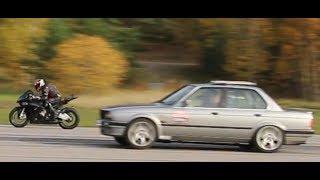Download BMW S1000 RR HP4 200 HP vs BMW 325 iX E30 Turbo 800 HP by Nisse Järnet Video