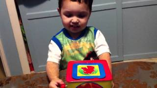 Download Kid gets scared with jack in the box toy Video