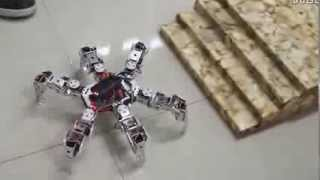 Download Arduino Hexapod spider robot kit with servo control board Video