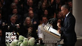 Download Watch President Barack Obama's full tribute to John McCain at National Cathedral Video