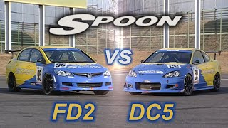 Download [ENG CC] Spoon Civic FD2 vs. Spoon Integra DC5 Tsukuba 2007 Video