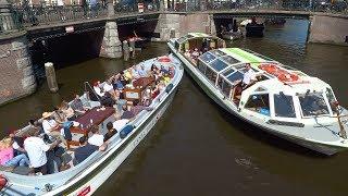 Download Chaos grachten Amsterdam: boem, bootje hozen, roer kapot, brug te laag en meerrr Video