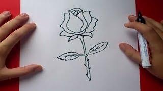 Download Como dibujar una rosa paso a paso 3 | How to draw a rose 3 Video