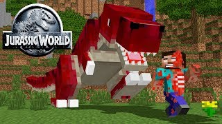 Download Monster School: JURASSIC WORLD CHALLENGE Minecraft Animation Video