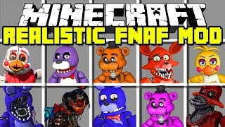 Download Minecraft REALISTIC FIVE NIGHTS AT FREDDY'S MOD! | FREDDY, FOXY, BONNIE AND MORE! | Modded Mini-Game Video