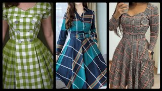 Download popular on demand Check printed casual wear cotton tops and frock dresses latest check shirt ideas Video