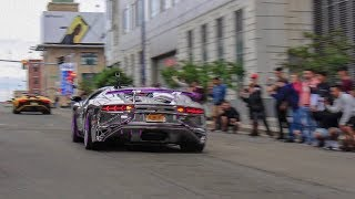 Download The Start of the GoldRush Rally - LOUD Accelerations, Ford GT, Lamborghini Aventador SV + More Video