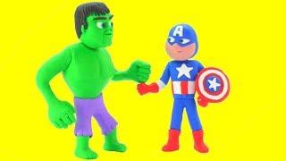 Download Hulk Captain America Superhero Babies Play Doh Cartoons Stop Motion Animations Video