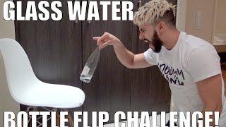 Download GLASS WATER BOTTLE FLIP CHALLENGE!! Video