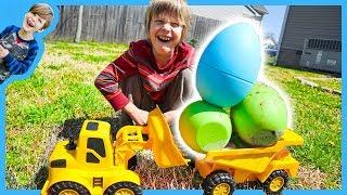 Download Dump Trucks GiANT Easter Egg Hunt! Video