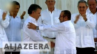 Download Colombia and FARC sign historic deal ending decades of war Video