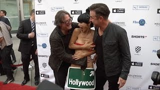 Download Bai Ling with Movie Director Jefery Levy and David Arquette   Candid Video Video