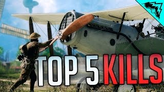 Download Battlefield 1 Top 5 LUCKIEST Kills (Sniper Intercept, 9 Kills 1 Bullet, Horse Crushed) WBCW #164 Video