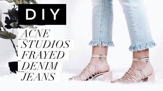 Download Fashion DIY|Acne Studios Frayed Denim Jeans Video
