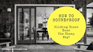 Download How to Soundproof a Sliding Glass Door! Video