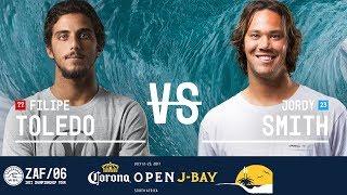 Download Filipe Toledo vs. Jordy Smith - Quarterfinals, Heat 3 - Corona Open J-Bay 2017 Video