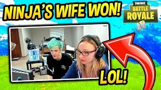 Download NINJA'S WIFE WINS FIRST GAME IN FORTNITE - Fortnite Funny Fails and WTF Moments! #7 Video