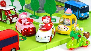 Download Tayo Namsan Road Running play with Hello kitty & Friends Tomica | PinkyPopTOY Video