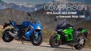 Download 2016 Suzuki GSX-S1000F vs Kawasaki Ninja 1000 - MotoUSA Video