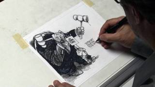 Download An editorial cartoon drawn in two minutes Video