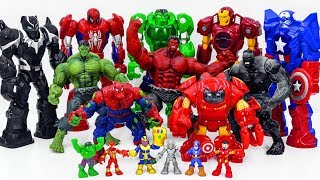 Download Power Rangers & Marvel Avengers Toys Pretend Play | HULK ARMY Smash Superhero Rescue Toy Battle Video