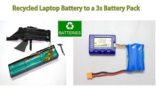Download Recycled Laptop Battery to 3S - 18650 Battery Pack Video