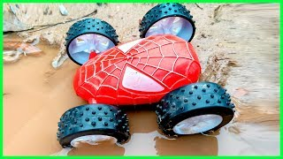 Download Lightning McQueen Rescue Spider Car Go Through Deep Water | Toys For Kids Video