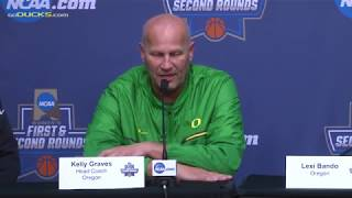 Download Kelly Graves, Lexi Bando, Sabrina Ionescu NCAA Round 2 Media Day Video
